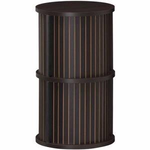 [幅37.2×奥行37.2×高さ62.4cm] ラック 収納 かわいい 小物入れ 円柱ラック 白井産業 チャモス ダーク