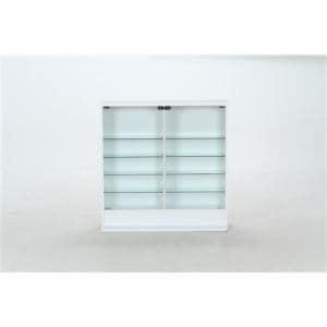 収納用品 ガラスコレクションケース ロータイプ 浅型 96072 ホワイト