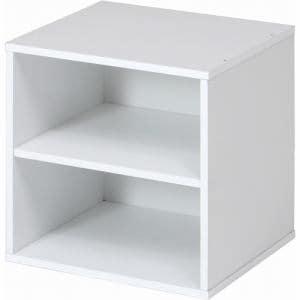 キューブボックス 棚付 CB35SH (WH) ホワイト