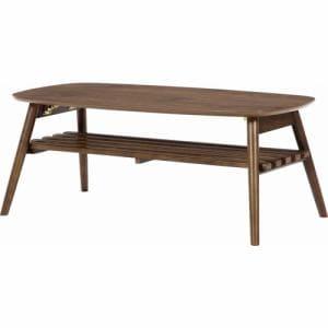 センターテーブル 幅100cm 奥行50cm 高さ40cm ミディアムブラウン 95780 ノルン