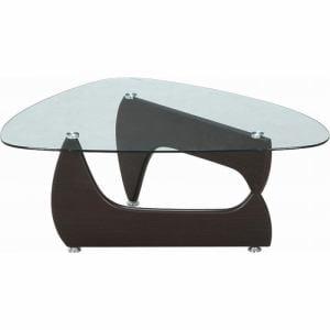 ガラスセンターテーブル ルーク ウォルナット FUJI-96142