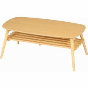 折れ脚センターテーブル ノルン 幅100cm ナチュラル 96351