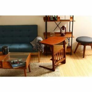 サイドテーブル ノルン センターテーブル96553 ミディアムブラウン 1人用