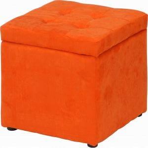 ファブリックボックススツール オレンジ 1人用