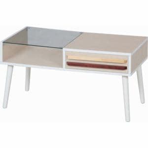 リビングテーブル オスロ HH-8040PG ホワイトウォッシュ 2人用