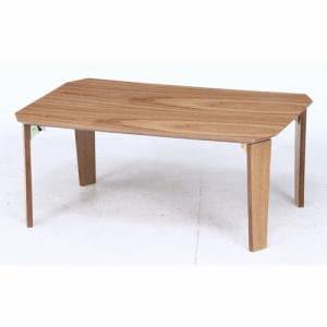 八角突板ローテーブル 7550 NA ナチュラル