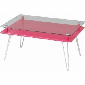 ディスプレイテーブル クラリス  ピンク