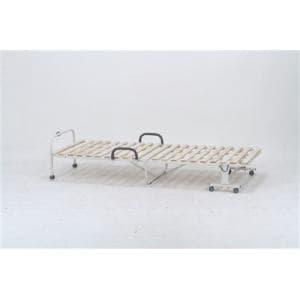 【処分特価】不二貿易 [シングル]折りたたみベッド ワンタッチスノコベッド(桐)