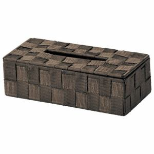 小物収納 ティッシュボックス 58-75DBR ブラウン 1個