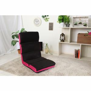 ヘッドリクライニング座椅子 ロビン ピンク 1人