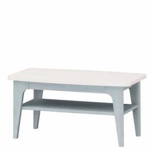 ローテーブル FRS8040T ペールブルー 幅800×奥行394×高さ381mm