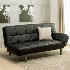 ソファベッド YSB 160001 BK ブラック ソファベッド