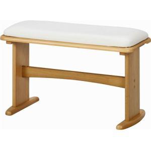 ダイニングベンチ 2人掛け PVC素材でお手入れ簡単 幅68x奥行30x高さ43.5cm ナチュラル ダイニング14290ベンチ 不二貿易