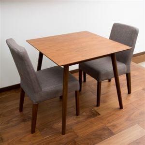 ダイニングテーブル 2人掛け 幅80x奥行80x高さ72cm ブラウン  YDT300002BR80 ヤマダオリジナル