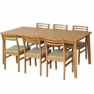 ダイニングテーブル 6人掛け 使い勝手のいいファミリーサイズ 幅180x奥行90x高さ72cm ナチュラル  YDT300001NA180 ヤマダオリジナル