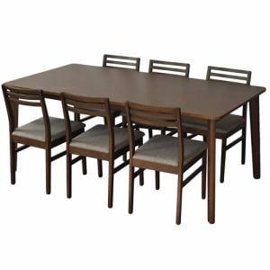 ダイニングテーブル 6人掛け 使い勝手のいいファミリーサイズ 幅180x奥行90x高さ72cm ブラウン YDT300001BR180 ヤマダオリジナル