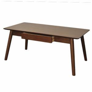 [幅100cm] Yセンターテーブル YCT170001BR100 ブラウン 引き出し付き