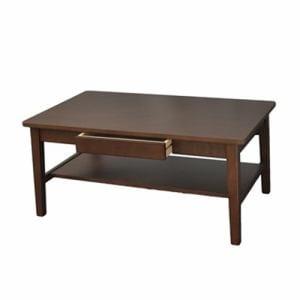 [幅100cm] Yセンターテーブル YCT170002BR100 ブラウン 棚板付き 引き出し付き