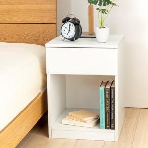 ナイトテーブル YNT260001WH40 ホワイト