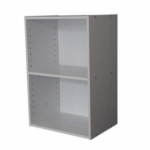 [幅42×奥行29×高さ59.2cm] カラーボックス ホワイト 2段 収納 YCB500001