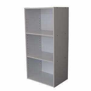 [幅42×奥行29×高さ88cm] カラーボックス ホワイト 3段 収納 YCB500002