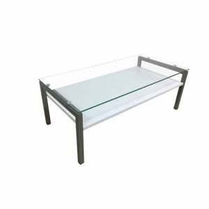 センターテーブル 棚板付き 幅110x奥行55x高さ40cm ホワイト YCT170010WH ヤマダオリジナル