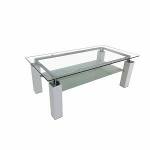 センターテーブル 棚板付き 幅105x奥行55x高さ40cm ホワイト YCT170011WH ヤマダオリジナル