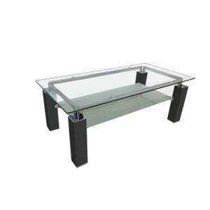 センターテーブル 棚板付き 幅110x奥行55x高さ40cm ブラック YCT170011BK ヤマダオリジナル