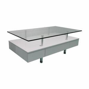 センターテーブル 棚板付き 幅120x奥行65x高さ43cm ホワイト YCT170012WH ヤマダオリジナル