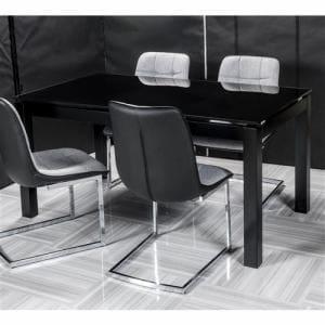 [幅150]ヤマダオリジナル ダイニングテーブル ブラック