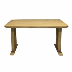 ダイニングテーブル 4人掛け 幅135x奥行80x高さ70cm ライトブラウン YDT300028LBR135 ヤマダオリジナル
