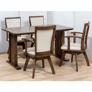 ダイニングテーブル 4人掛け 幅135x奥行80x高さ70cm ミディアムブラウン YDT300028MBR135 ヤマダオリジナル