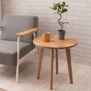 ヤマダオリジナル サイドテーブル 幅50x奥行50x高さ50 ナチュラル YSTVT170028NA50 NA