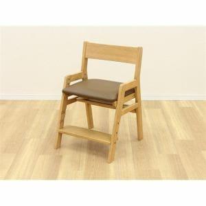 大塚家具 IDC OTSUKA 木製椅子 ハロウチェア 合皮BR/NA