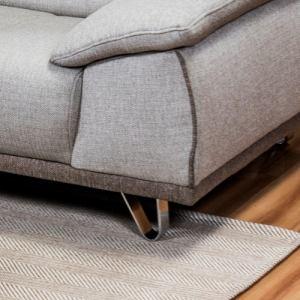 [3人掛]  ソファー 3人掛け ヘッドレストの角度調整が可能 幅210x奥行103x高さ77 ベージュ  ヤマダセレクト