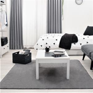 [幅80x奥行60x高さ38]ヤマダオリジナル センターテーブル 落ち着きのモノトーン色 ホワイト