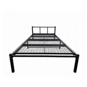ヤマダオリジナル シンプルなデザイン パイプベッド ブラック