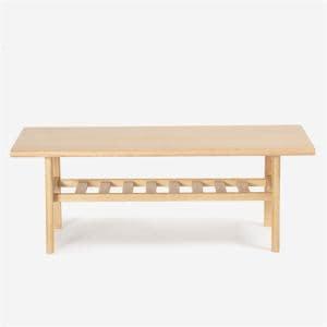 IDC大塚家具 センターテーブル「ユノ」幅105cm オーク材 ホワイトオーク色