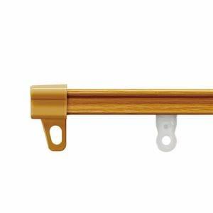 伸縮式カーテンレール AJ606木目 ウッディミディアム シングル1.1~2.0