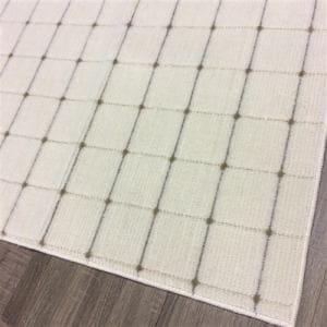 [幅176×奥行176cm] 国産平織カーペット ビスト2J アイボリー 約2畳