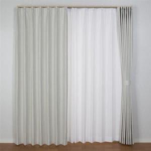 カーテン コローレ アイボリー 巾100cm×丈105cm 2枚入