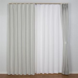 [100×135]カーテンコローレ アイボリー 2枚入 遮光性あり 遮熱・断熱効果あり ウォッシャブル