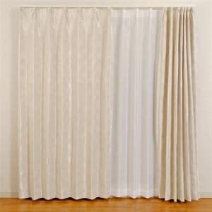 カーテン フロスト アイボリー 巾100cm×丈200cm 2枚入
