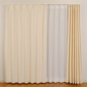カーテン ウイング アイボリー 巾100cm×丈200cm 2枚入