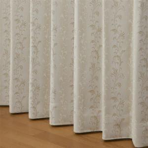 ドレープ遮光・防炎カーテン プロローグ ベージュ 巾100cm×丈178cm 2枚入
