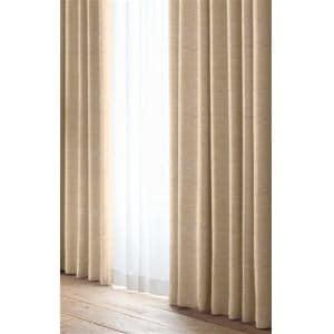 カーテン 巾100cm×丈200cm レガシー ベージュ 2枚入 遮光 形状記憶加工 ウォッシャブル