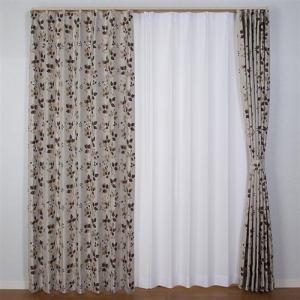 ドレープ遮光カーテン サフラン2 ベージュ 巾200cm×丈178cm 1枚入