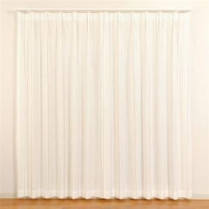 カーテン エコマッチレース2 レッド 巾100cm×丈198cm 2枚入