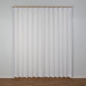 [150×198]レースカーテン エクセルレース ホワイト1枚入 防汚加工 外から室内が見えにくい ウォッシャブル