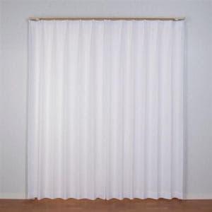 レースカーテン 巾100cm×丈133cm  アスリート ホワイト 2枚入 外から室内が見えにくい 遮熱・断熱効果あり ウォッシャブル
